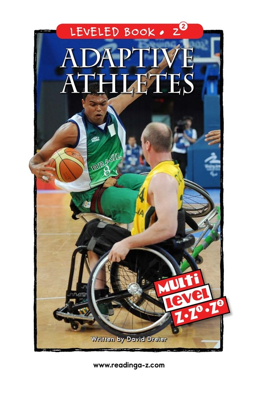 Book Preview For Adaptive Athletes Page 0