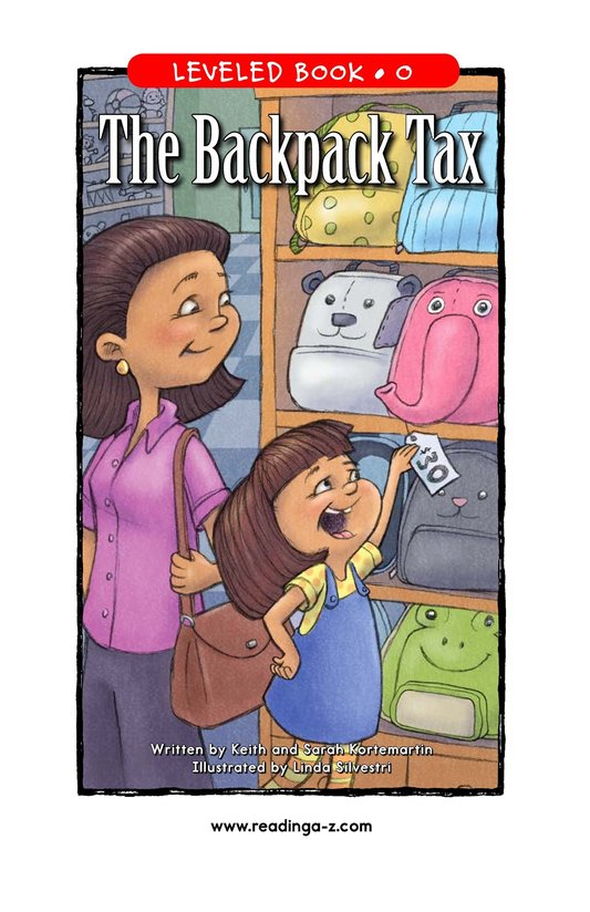 Book Preview For The Backpack Tax Page 1