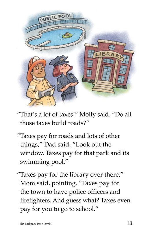 Book Preview For The Backpack Tax Page 13