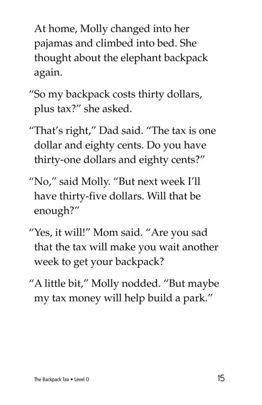 Book Preview For The Backpack Tax Page 15