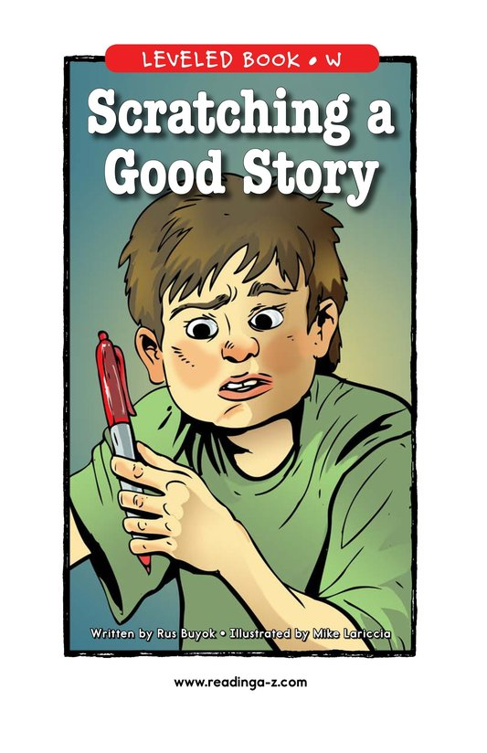 Book Preview For Scratching a Good Story Page 1