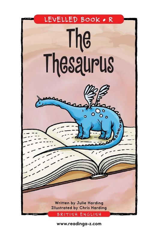 Book Preview For The Thesaurus Page 1