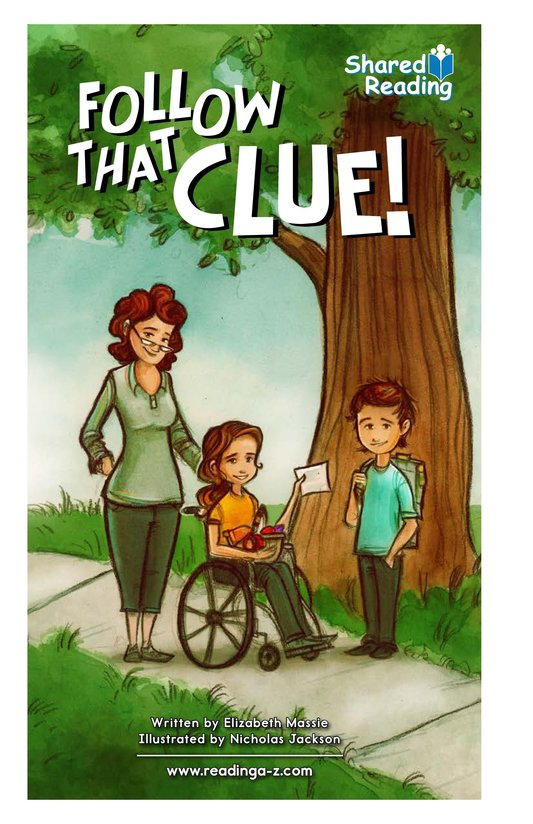 Book Preview For Follow that Clue! Page 1