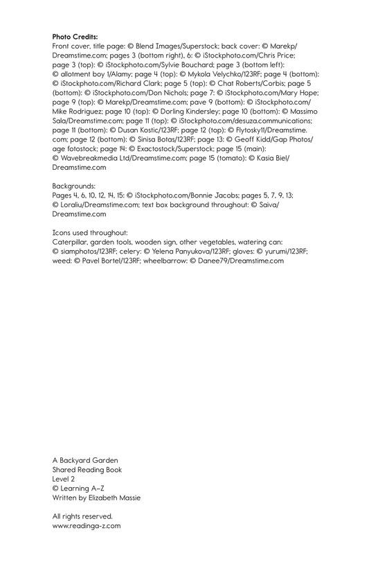 Book Preview For A Backyard Garden Page 2
