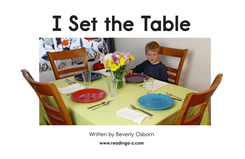 Book Preview For I Set the Table Page 2
