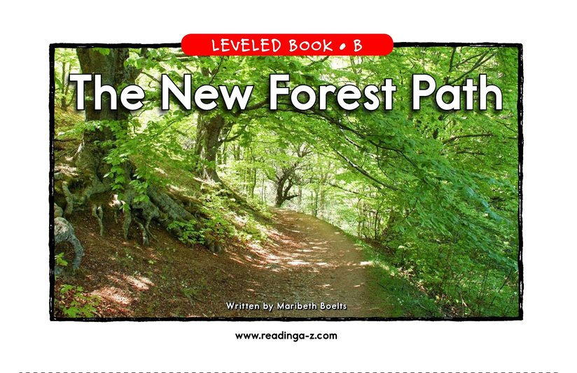 Book Preview For The New Forest Path Page 1
