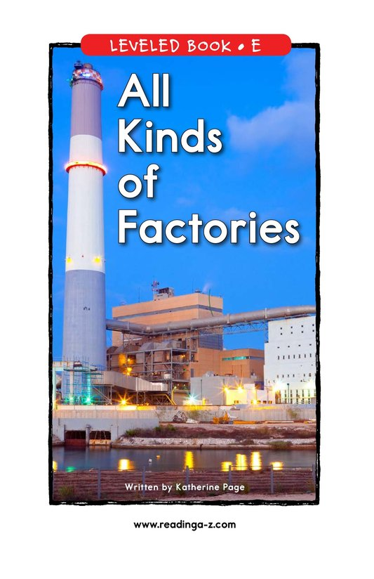 Book Preview For All Kinds of Factories Page 1
