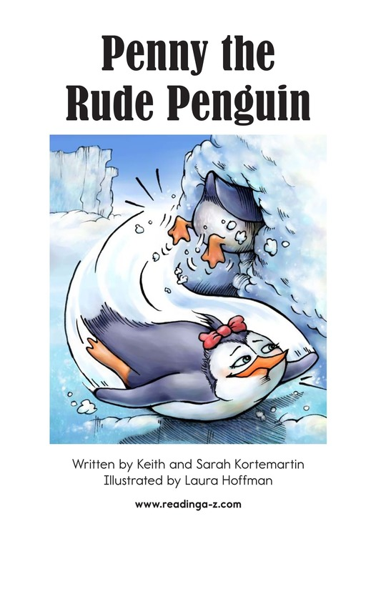 Book Preview For Penny the Rude Penguin Page 2