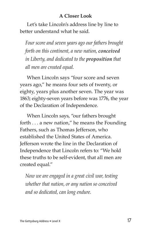 Book Preview For The Gettysburg Address Page 17