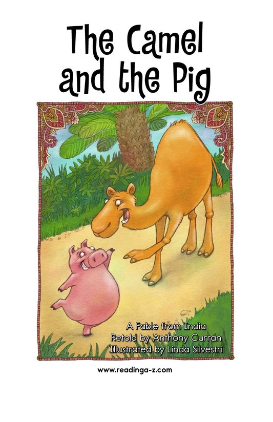 Book Preview For The Camel and the Pig Page 2