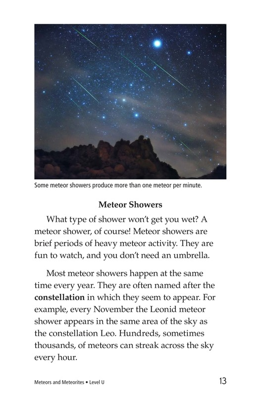 Book Preview For Meteors and Meteorites Page 13