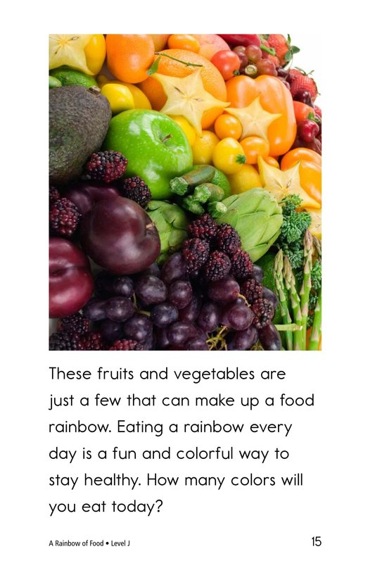 Book Preview For A Rainbow of Food Page 15