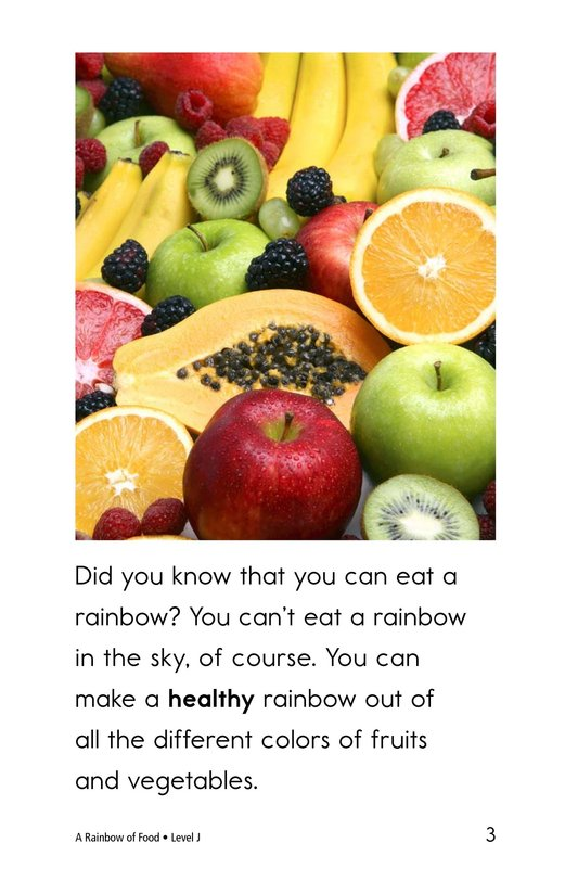 Book Preview For A Rainbow of Food Page 3