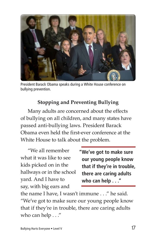 Book Preview For Bullying Hurts Everyone Page 17