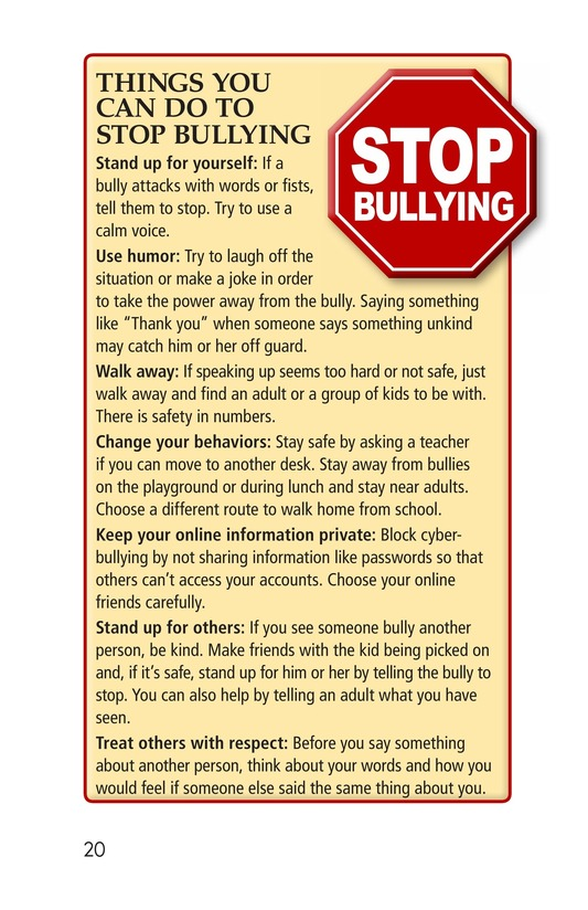 Book Preview For Bullying Hurts Everyone Page 20