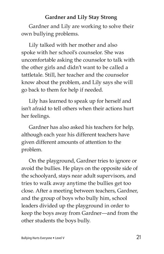 Book Preview For Bullying Hurts Everyone Page 21