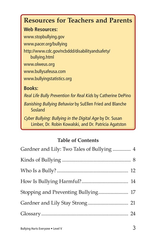 Book Preview For Bullying Hurts Everyone Page 3