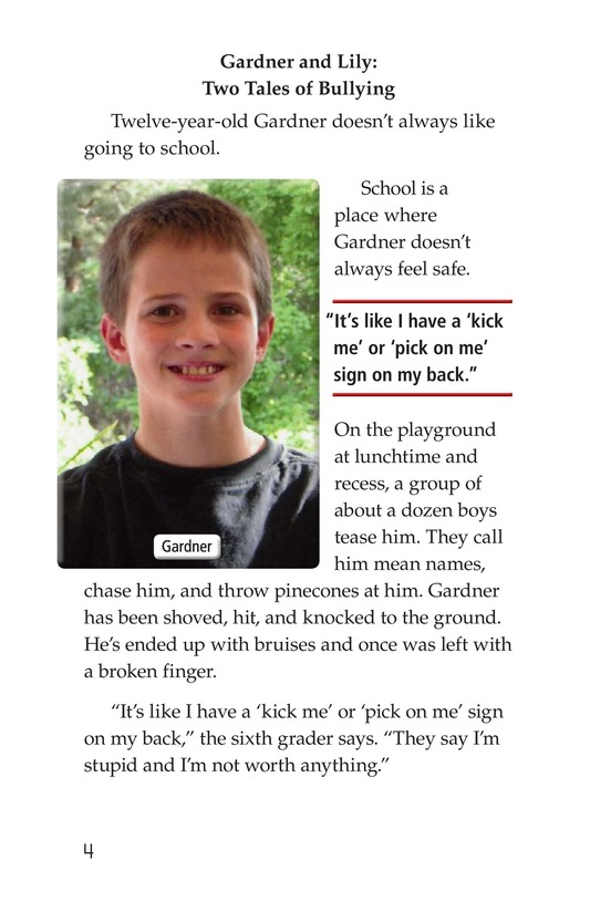 Book Preview For Bullying Hurts Everyone Page 4