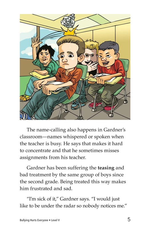 Book Preview For Bullying Hurts Everyone Page 5