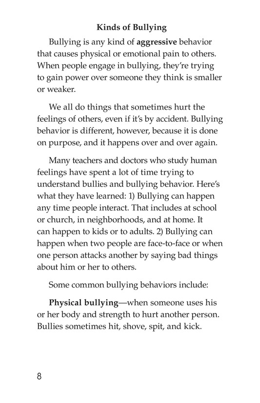 Book Preview For Bullying Hurts Everyone Page 8