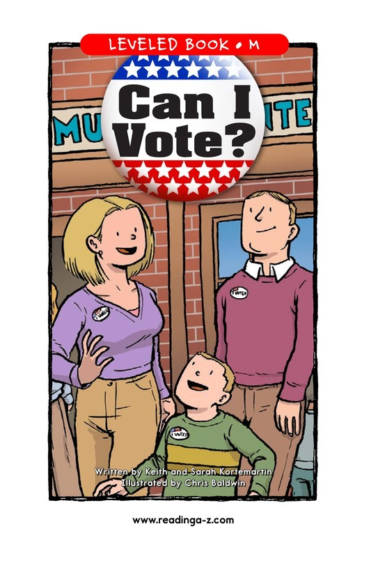 Book Preview For Can I Vote? Page 1