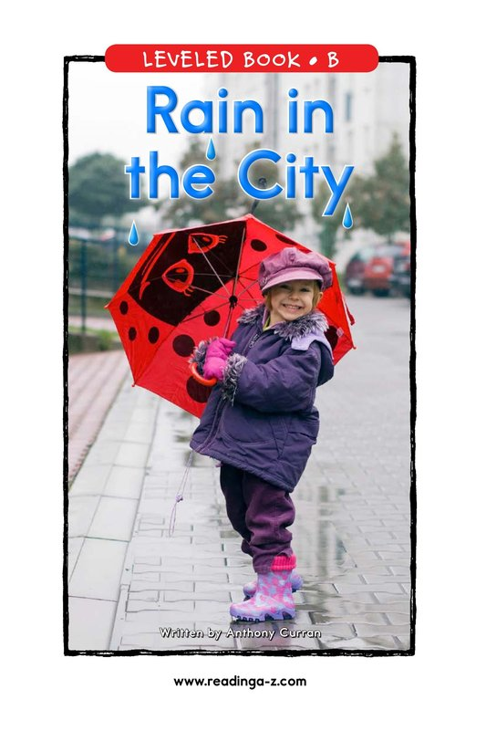 Book Preview For Rain in the City Page 1