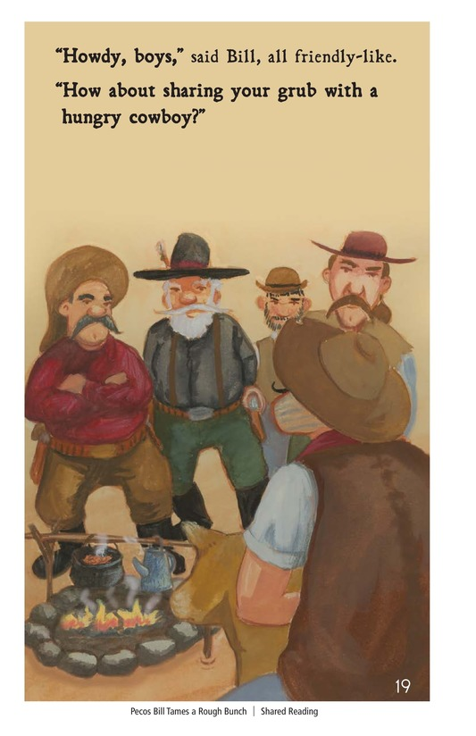 Book Preview For Pecos Bill Tames a Rough Bunch Page 19