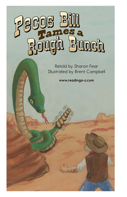 Book Preview For Pecos Bill Tames a Rough Bunch Page 2