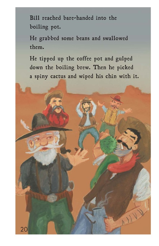 Book Preview For Pecos Bill Tames a Rough Bunch Page 20