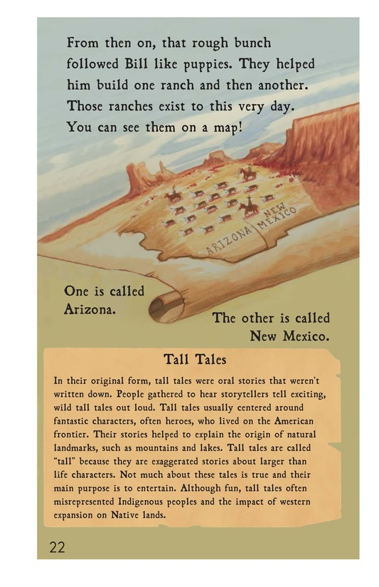 Book Preview For Pecos Bill Tames a Rough Bunch Page 22