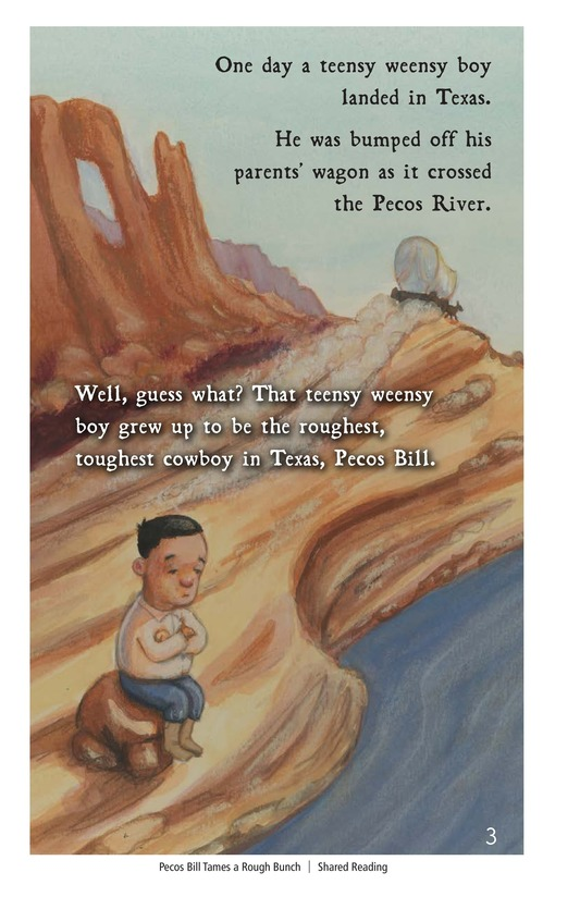 Book Preview For Pecos Bill Tames a Rough Bunch Page 3