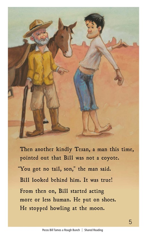 Book Preview For Pecos Bill Tames a Rough Bunch Page 5
