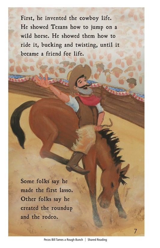 Book Preview For Pecos Bill Tames a Rough Bunch Page 7