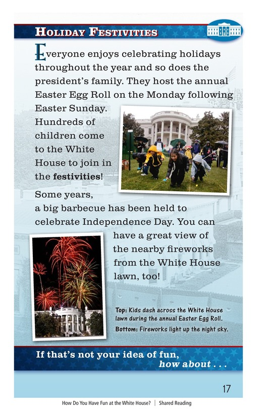 Book Preview For How Do You Have Fun at the White House? Page 17