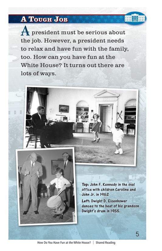Book Preview For How Do You Have Fun at the White House? Page 5