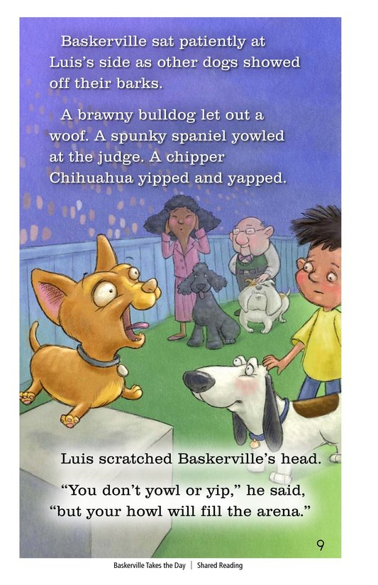 Book Preview For Baskerville Takes the Day Page 9
