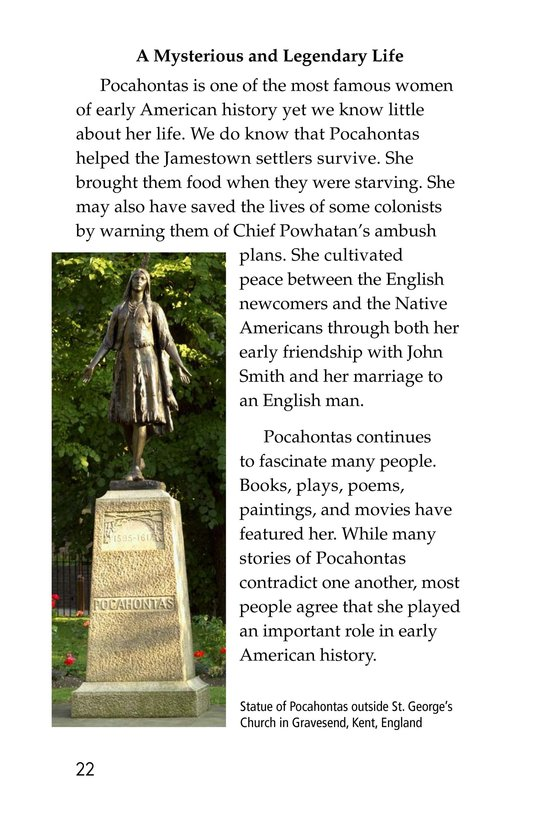 Book Preview For Pocahontas at Jamestown Page 22