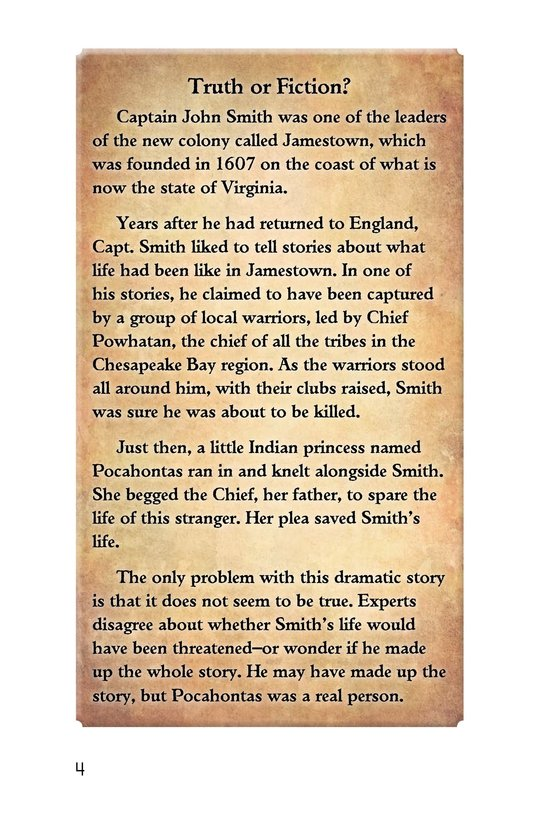 Book Preview For Pocahontas at Jamestown Page 4
