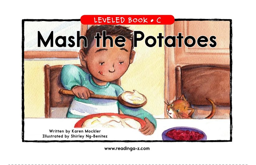 Book Preview For Mash the Potatoes Page 1