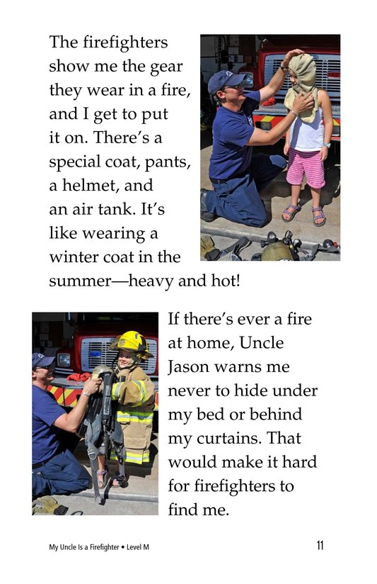 Book Preview For My Uncle Is a Firefighter Page 11
