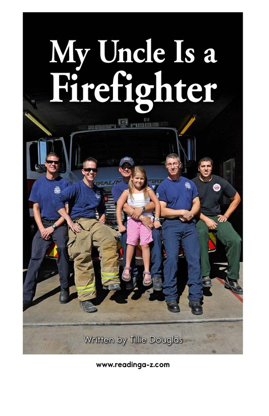 Book Preview For My Uncle Is a Firefighter Page 2
