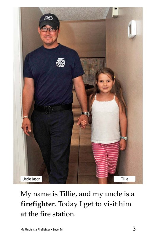 Book Preview For My Uncle Is a Firefighter Page 3