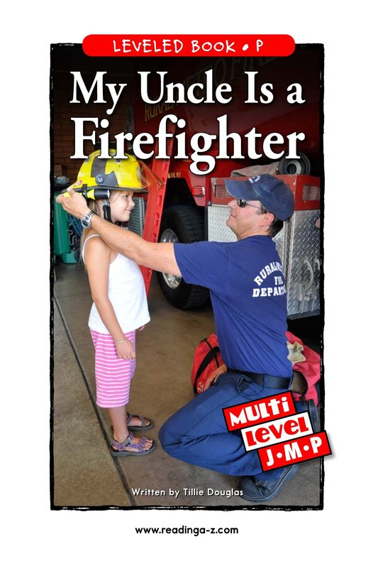 Book Preview For My Uncle Is a Firefighter Page 1