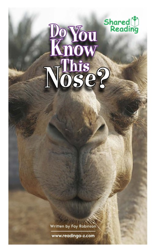Book Preview For Do You Know This Nose? Page 1