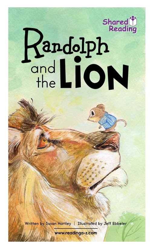Book Preview For Randolph and the Lion Page 1