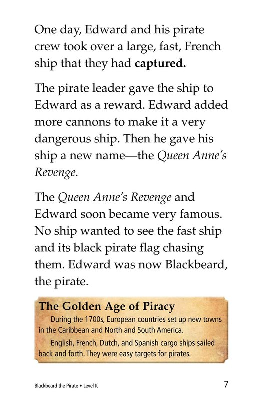 Book Preview For Blackbeard the Pirate Page 7