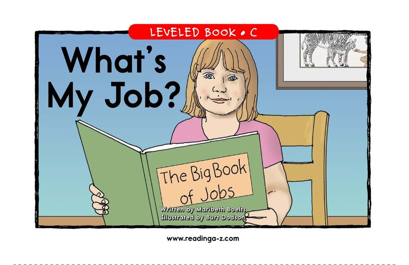Book Preview For What's My Job? Page 1
