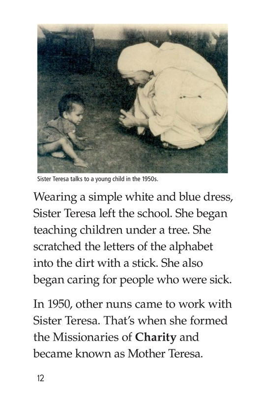 Book Preview For Mother Teresa: Mother to Many Page 12