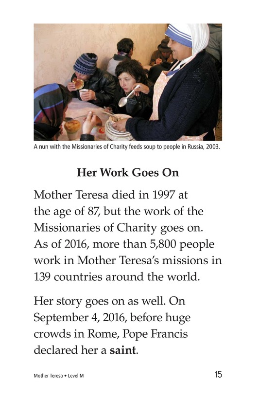 Book Preview For Mother Teresa: Mother to Many Page 15