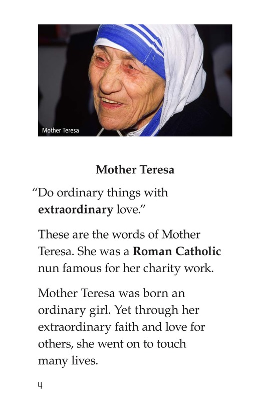 Book Preview For Mother Teresa: Mother to Many Page 4